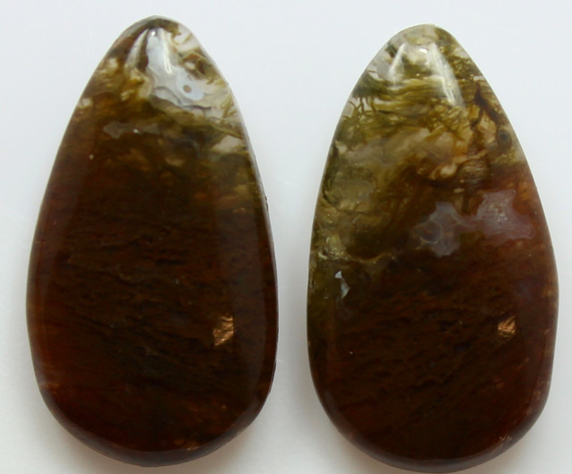 16.05 CTS MT MAURY AGATE PAIR OF STONES