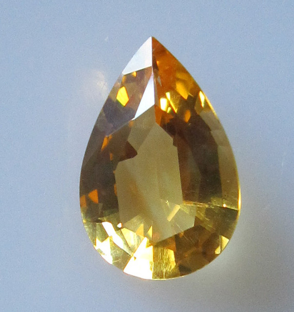 Golden Yellow Citrine Pear Shape, 2.25cts