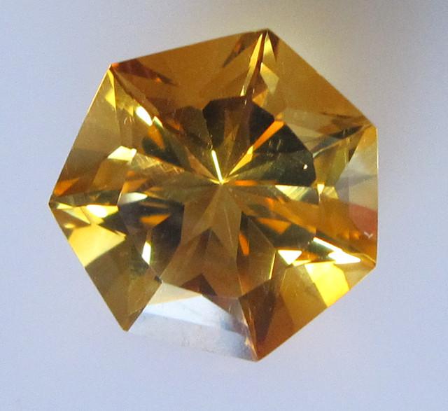 Golden Yellow Citrine Heptagonal Shape, 6.46cts