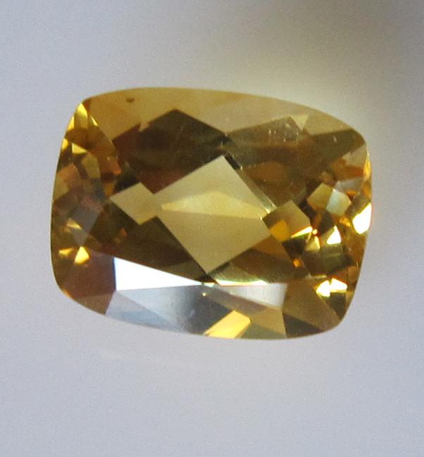 Golden Yellow Citrine Cushion Shape, 1.90cts