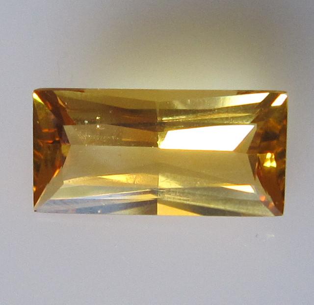 Golden Yellow Citrine Baguette Shape, 2.46cts