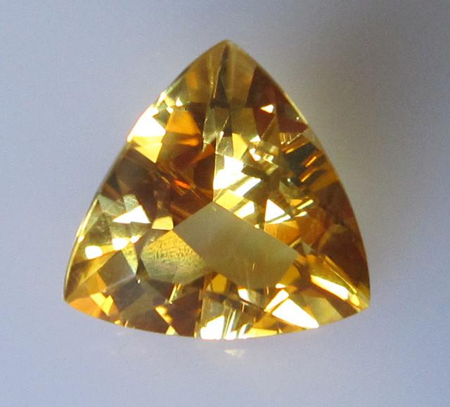 Golden Yellow Citrine Trillion Shape, 3.31cts