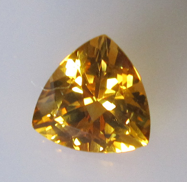 Golden Yellow Citrine Trillion Shape, 2.00cts
