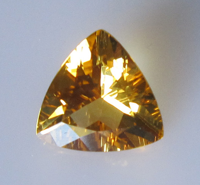 Golden Yellow Citrine Trillion Shape, 2.30cts