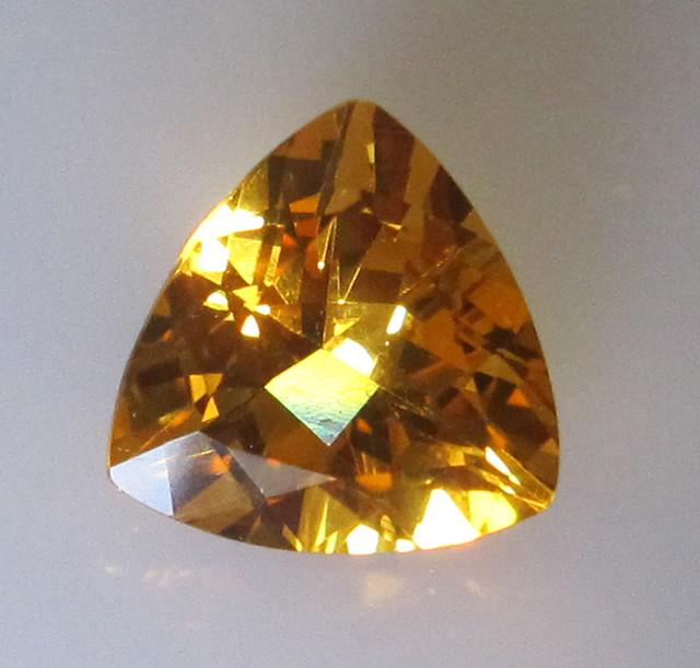 Golden Yellow Citrine Trillion Shape, 2.87cts