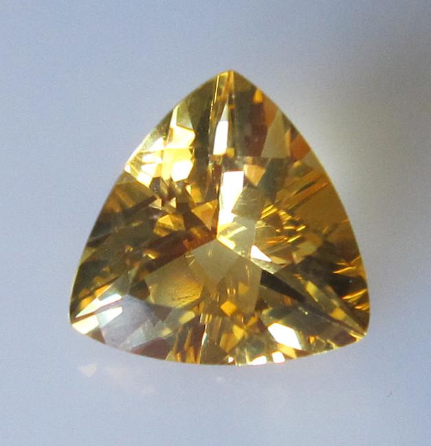 Light Golden Yellow Citrine Trillion Shape, 2.37cts