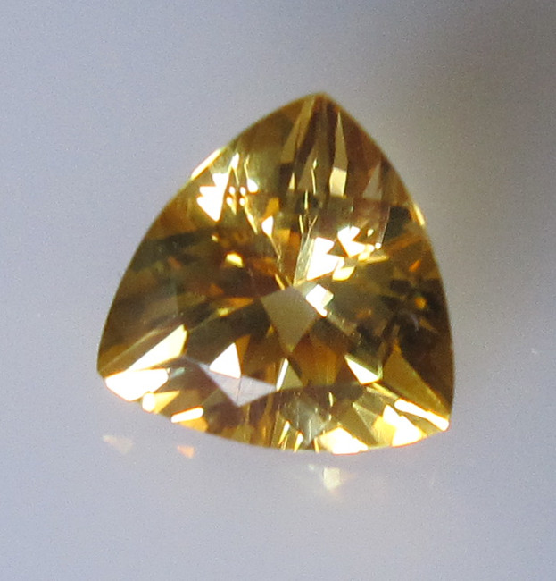 Golden Yellow Citrine Trillion Shape, 2.11cts