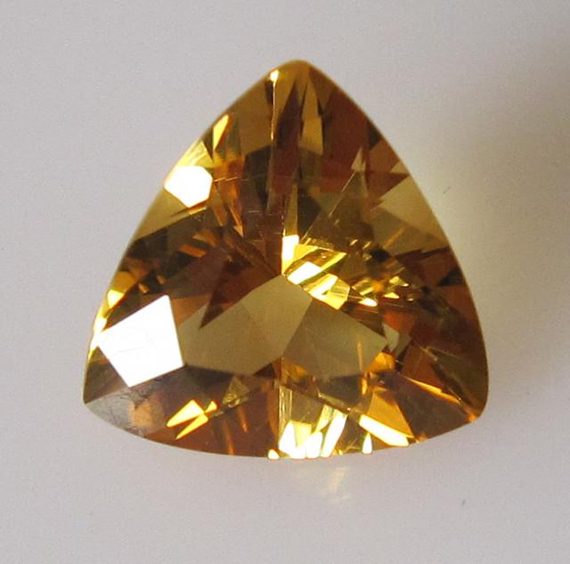 Golden Yellow Citrine Trillion Shape, 2.06cts