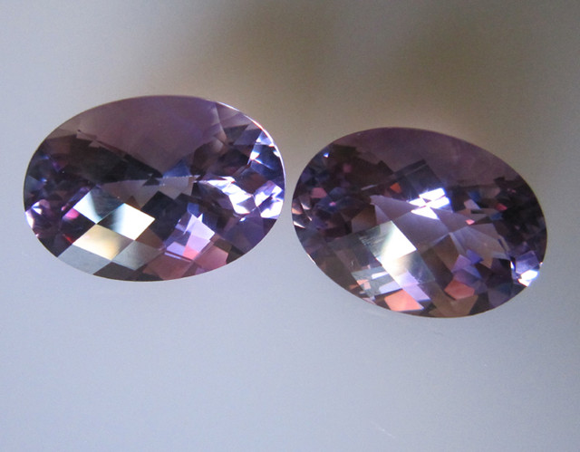 Amethyst Matching Oval Checker Board, 18.12cts