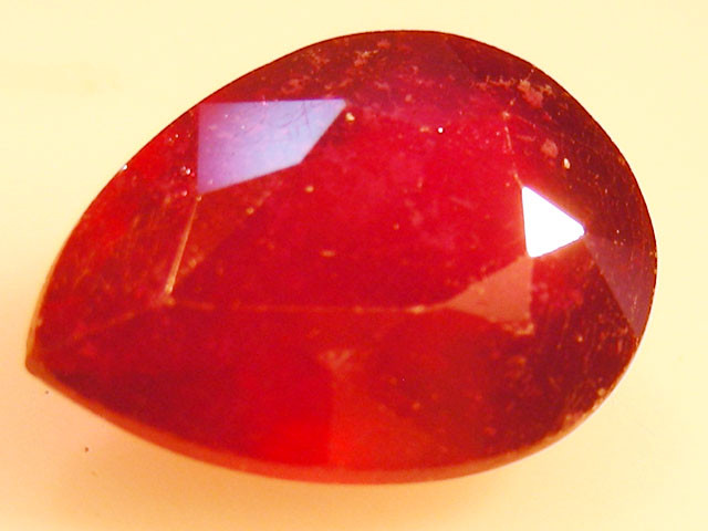CERT 4.72 CTS FACETED RASPBERRY RED RUBY  11 1069