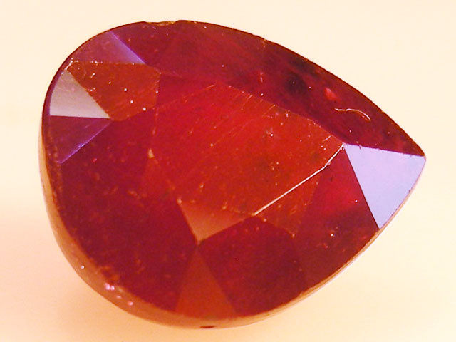 CERT 4.60 CTS FACETED RASPBERRY RED RUBY  11 1071