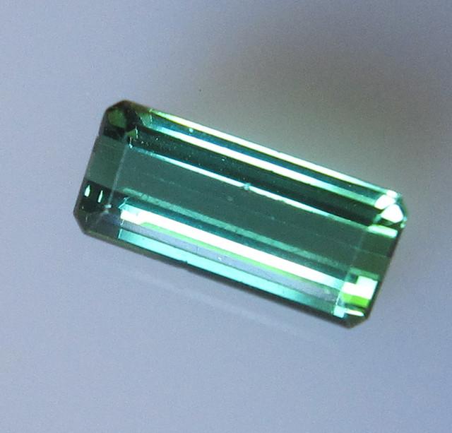 Green Tourmaline Emerald Cut, 1.23cts
