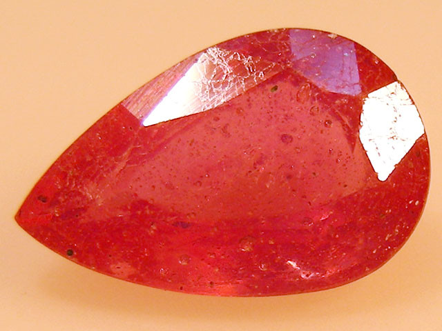 CERT 2.97 CTS FACETED  RED RUBY  11 1099