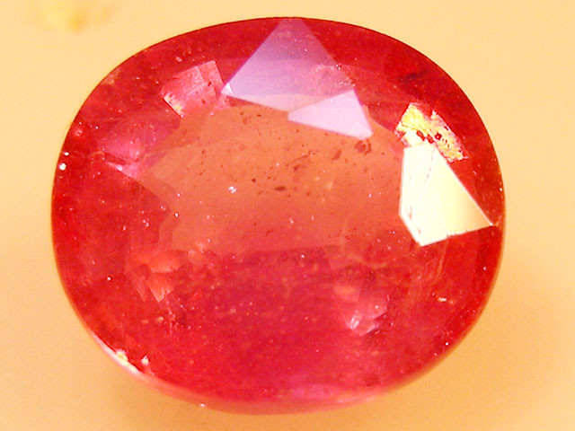 CERT 4.82 CTS FACETED  RED RUBY  11 1100