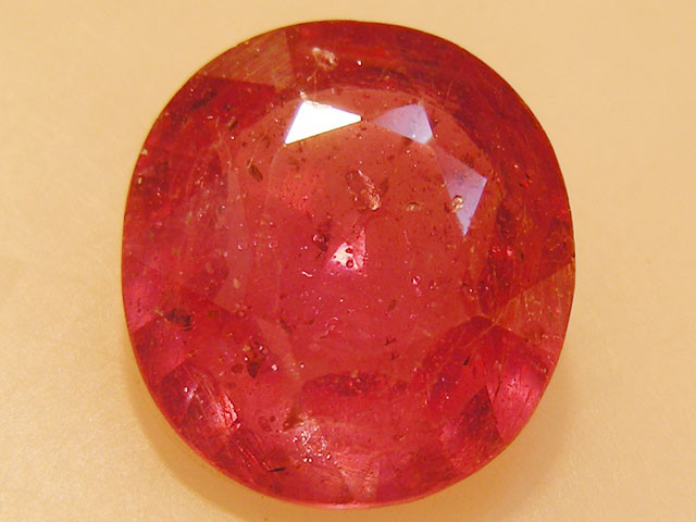 CERT 5.17 CTS FACETED  RED RUBY  11 1103
