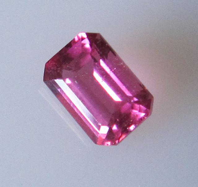 Beautiful Hot Pink Tourmaline Emerald Cut, 0.98cts
