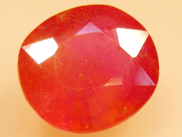CERT 4.82 CTS FACETED  RED RUBY  11 1116