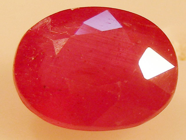 CERT 2.67 CTS FACETED  RED RUBY  11 1131