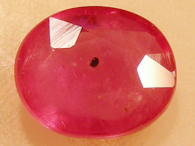 CERT 2.31 CTS FACETED  RED RUBY  11 1132