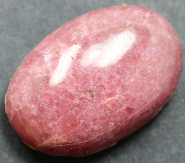 54.30 CTS RHODONITE LARGE CABOCHON CUT AND POLISHED