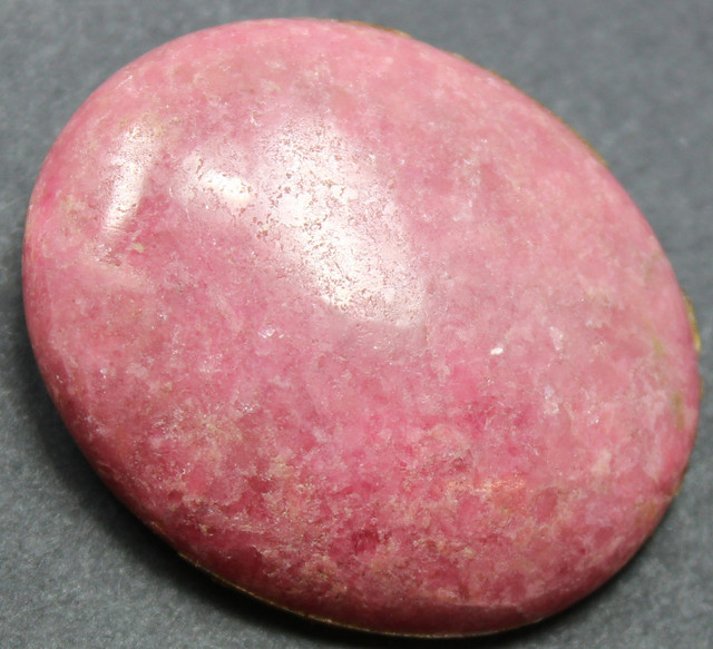 90.15 CTS RHODONITE LARGE CABOCHON CUT AND POLISHED