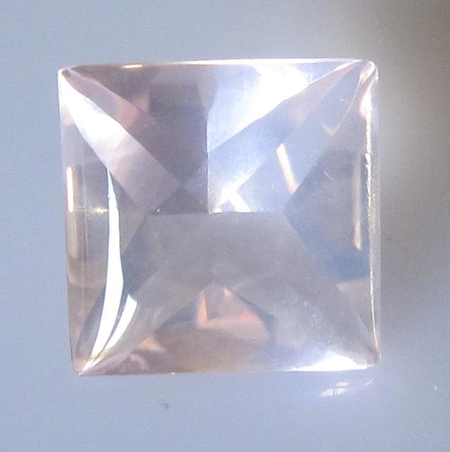 Rose Quartz Buff Top Princess Cut Super Quality, 4.43cts