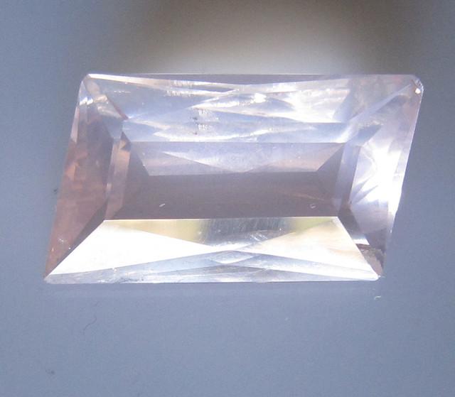 Rose Quartz Rhomboid Cut Super Quality, 9.20cts