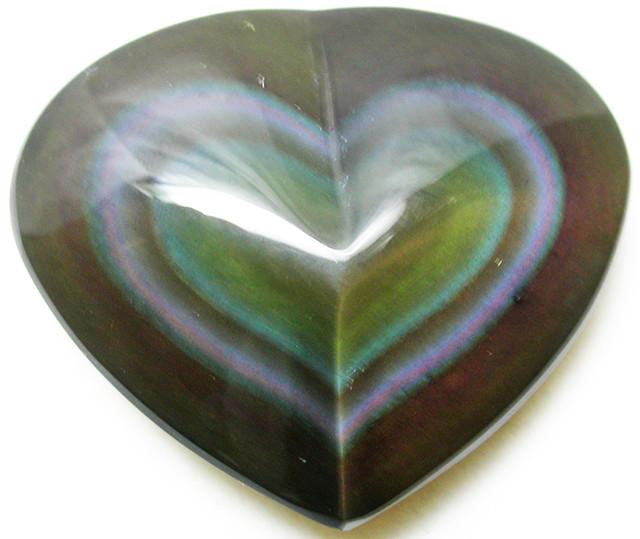 26.48 CTS  RAINBOW OBSIDIAN HEARTS -IRIDESCENCENT [MGW2513]
