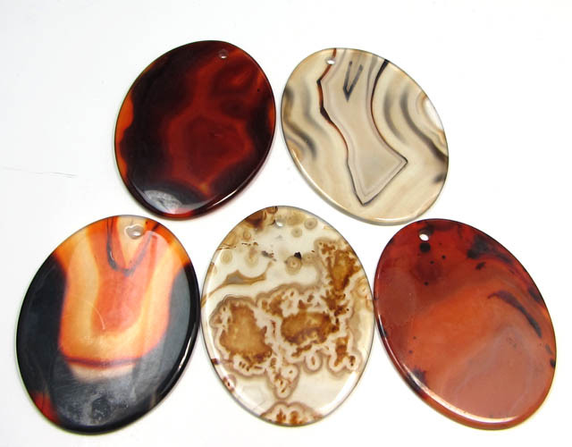 192 CTS FIVE 50X35 MM DI   UNIQUE CRAZY   AGATE   AGR 400