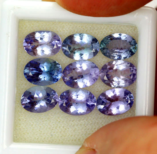 6.81 CTS PARCEL DEAL 7x5mm VVS TANZANITE STONE [SB760]