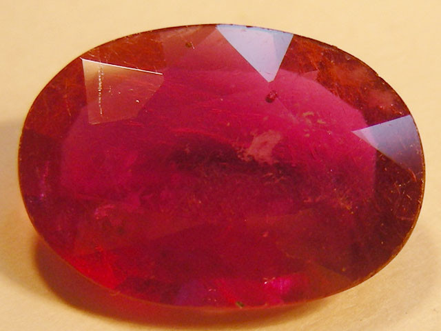 CERT 3 CTS FACETED  RED RUBY  11 942