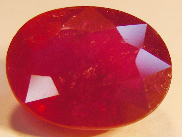 CERTIFIED 4.20 CTS FACETED RED RUBY  11 943