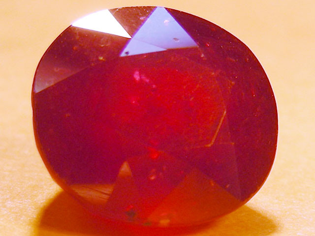CERT 7 CTS FACETED  RED RUBY  11 944