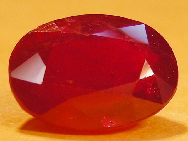 CERT 4.28 CTS FACETED  RED RUBY  11 952