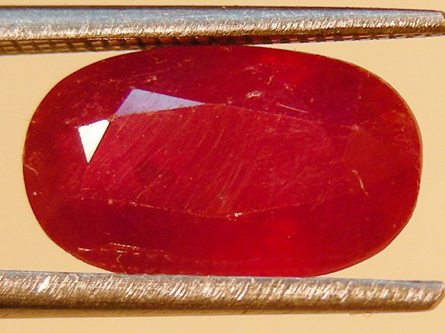 3.51 CTS FACETED RED RUBY 11 953