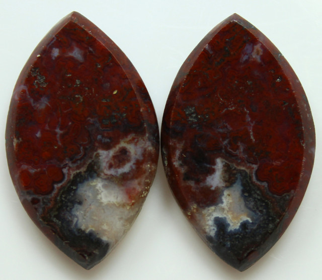 22.70 CTS PLUM AGATE PAIR PAUL BUNYAN CALIFORNIA AREA