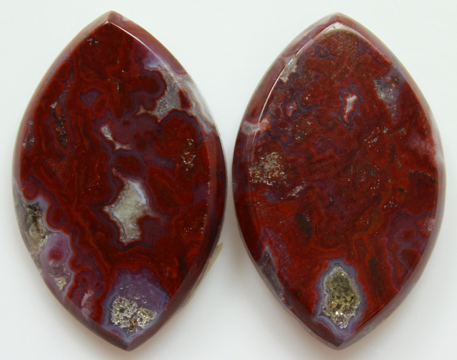 26.70 CTS PLUM AGATE PAIR PAUL BUNYAN CALIFORNIA AREA