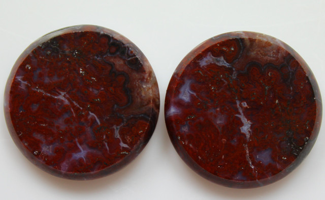 33.30 CTS PLUM AGATE PAIR PAUL BUNYAN CALIFORNIA AREA