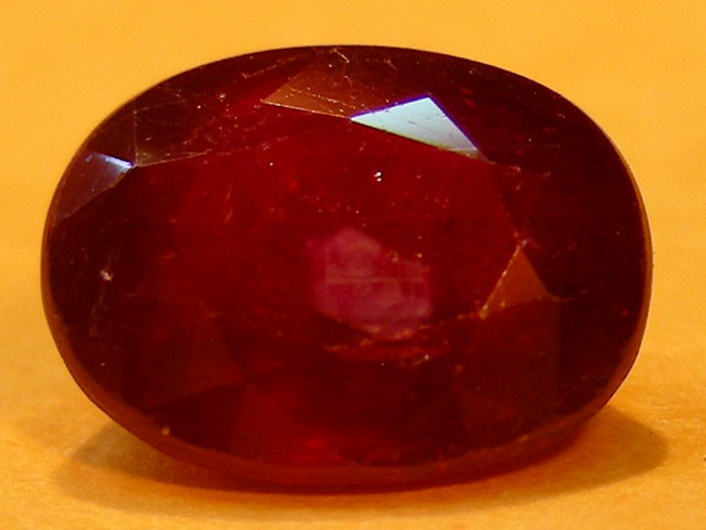 CERT 2.30 CTS FACETED  RED RUBY  11 904