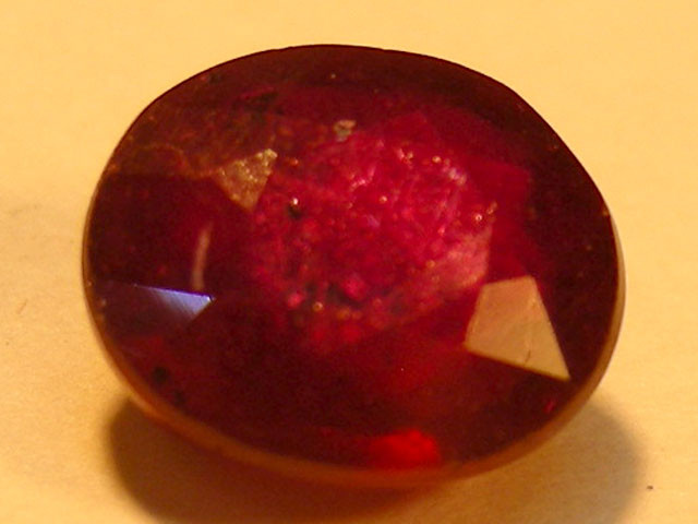 CERT 1.73 CTS FACETED  RED RUBY  11 923