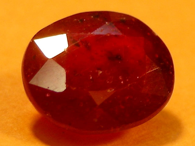 CERT 1.50 CTS FACETED  RED RUBY  11 929
