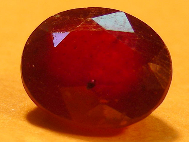 CERT 1.69 CTS FACETED  RED RUBY  11 930
