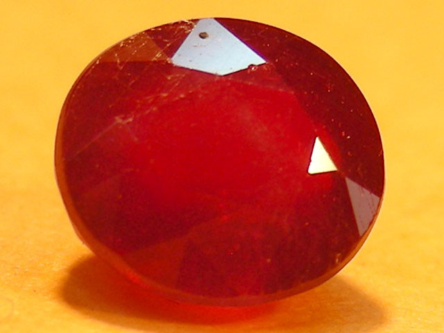 CERT 1.80 CTS FACETED  RED RUBY  11 931