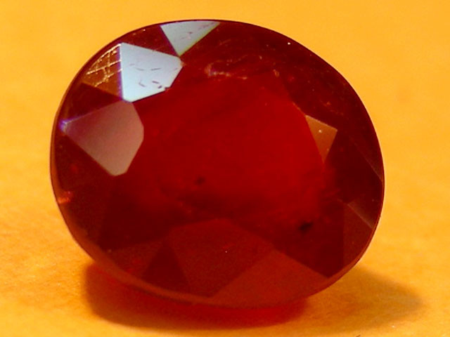 CERT 1.72 CTS FACETED  RED RUBY  11 932
