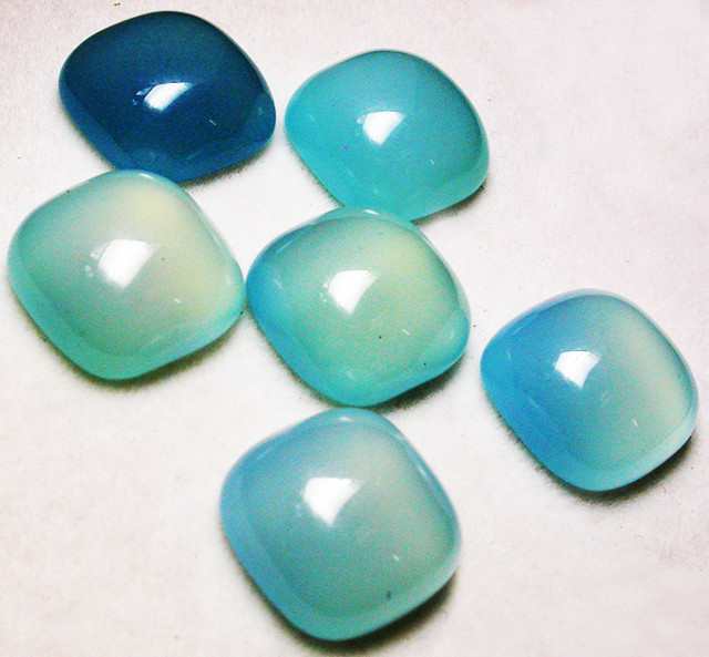 36.46 CTS  PARCEL  BLUE CHALCEDONY STONES.[MGW2673]
