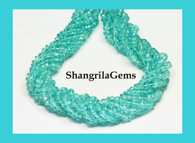Reduced from $48  Apatite 3mm beads. line AP006