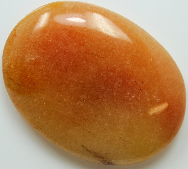 95.10 CTS CHALCEDONY ORANGE CABOCHON CUT STONE