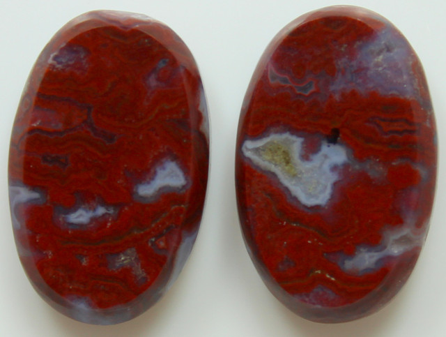 23.10 CTS PLUM AGATE PAIR PAUL BUNYAN CALIFORNIA AREA