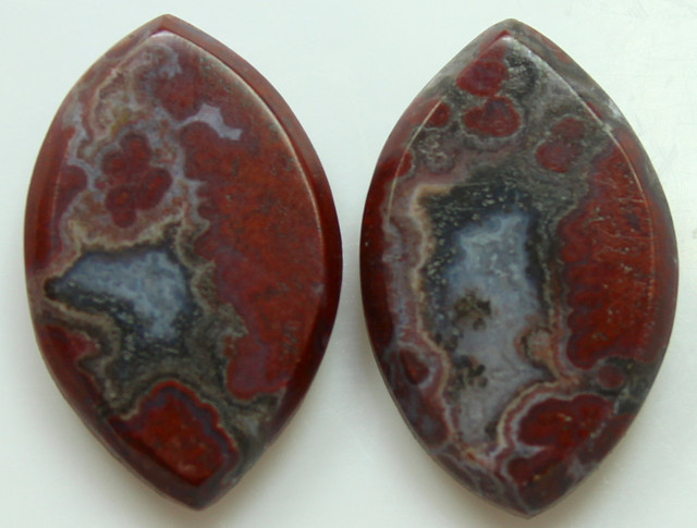 19.10 CTS PLUM AGATE PAIR PAUL BUNYAN CALIFORNIA AREA