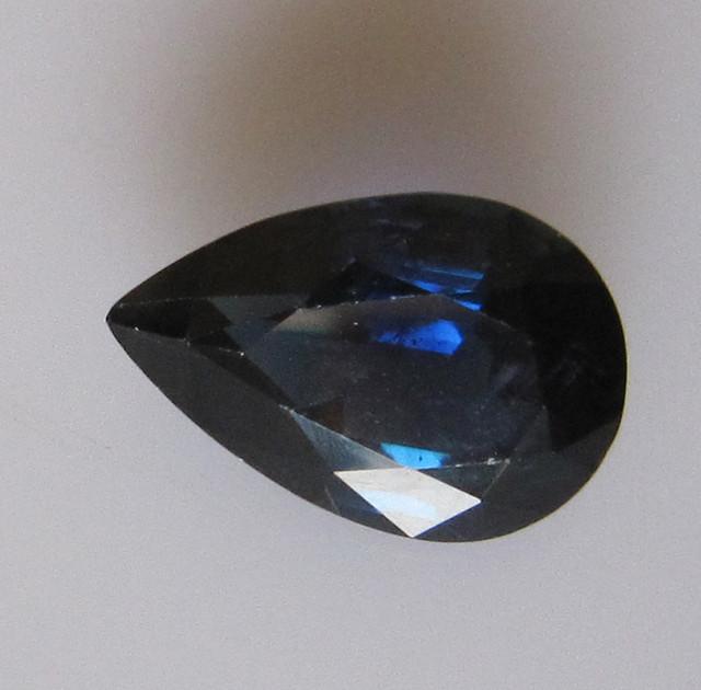 3.19cts Natural Australian Blue Pear Shape Sapphire